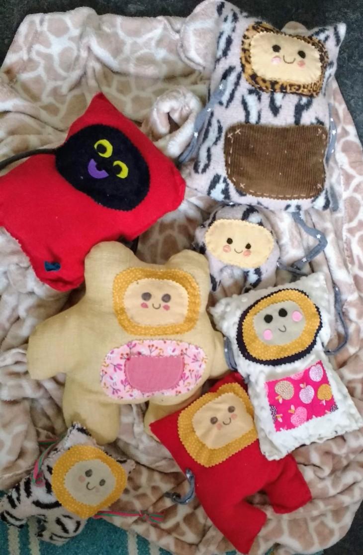 reduce reuse recycle kawaii monster toys DIY free tutorial