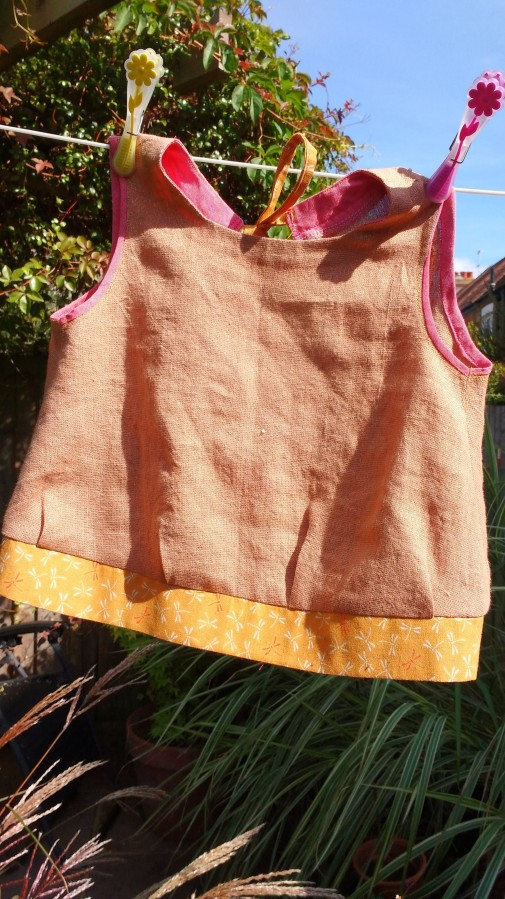 Sleeveless Blouse from Linen, Wool, Cotton Kids Book